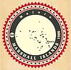 Vintage-Label-Aufkleber Karten der Marshall-Inseln