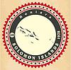 Vintage-Label-Aufkleber Karten der Salomonen