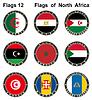 Flaggen der Welt. Nordafrika