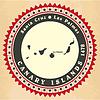 Vintage-Label-Aufkleber Karten der Kanarischen Inseln