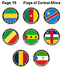 Flaggen der Welt. Zentralafrika