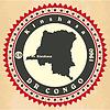 Vintage-Label-Aufkleber Karten der Demokratischen Republik