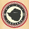 Vintage-Label-Aufkleber Karten von Simbabwe