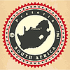 Vintage-Label-Aufkleber Karten Südafrika