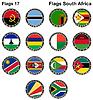 Flaggen der Welt. Südafrika