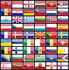 Elemente des Designs Icons Flaggen der Länder von