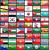 Elemente des Designs Icons Flaggen der Länder von Asien