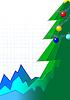 Infografik-Stil Grußkarte mit Weihnachtsbaum | Stock Vektrografik