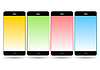 Set of colorful mobile smart phones | Stock Vector Graphics