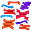 Set aus gebogenen Bändern mit Naht | Stock Vektrografik
