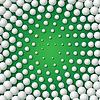 Kreisförmigen Rahmen von Golfbällen gemacht