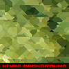 Khaki Hintergrund mit geometrischen Flecken | Stock Vektrografik