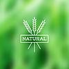 Natur Vintage-Label auf verschwommen Hintergrund