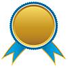 Blau und Gold Bänder Auszeichnung, | Stock Vektrografik