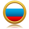 Russland-Flagge Glossy Button