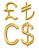 ID 4237362 | Zeichen der Währungen: Pfund, Kanadischer Dollar, Lire | Illustration mit hoher Auflösung | CLIPARTO