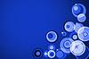 Abstrakt Kreis auf blauen Hintergrund | Stock Illustration