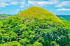 著名的巧克力山的自然地标 | 免版税照片