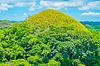 Znani naturalny punkt Chocolate Hills | Stock Foto
