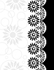 Decorative Border black-white | Stock Illustration