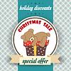 Weihnachten Verkauf Design mit Teddybär