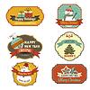 Sammlung von Vintage-Retro-Weihnachten-Etiketten
