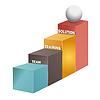 Team-, Ausbildungs-, Lösungs-Treppe, 3d