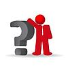 Business-Mann, Person mit Fragezeichen