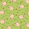 nahtlose Hintergrund mit lustigen Schweinen