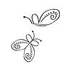 Sammlung von stilisierten Schmetterling