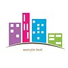 Stadt Gebäude Icon-Design | Stock Vektrografik