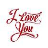 Kalli Writing ich liebe dich