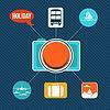 Векторный клипарт: Набор плоских иконок концепцию дизайна праздника и