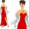Schöne Pin up girl Stil der 1950er Jahre