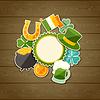 St. Patrick `s Day Grußkarte mit Aufklebern