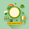 St. Patrick `s Day Grußkarte im flachen Design