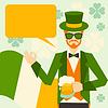 St. Patrick `s Day mit Hipster-Kobold