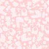 Mädchen Baby-Dusche nahtlose Muster