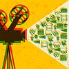 Film-und Kino-Retro-Hintergrund