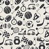 Nahtlose Muster von Sport-Symbole