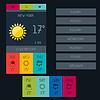 Wetter Widget in flachen Design-Stil