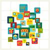 Internet-Shopping-Konzept-Hintergrund