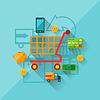 Konzept der Internet-Shopping in flachen Design-Stil