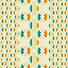 Ethnische nahtlose Muster im einheimischen Stil