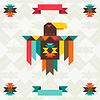 Ethnische Hintergrund mit Adler im nazi-Design
