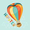 Ausführung mit Luftballon in Hipster-Stil