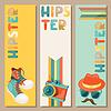 Hipster-Stil vertikale Banner