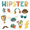Hipster-Stil-Elemente und Objekte festgelegt