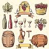 Wein vintage set