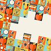 Science-Konzept Hintergrund in flachen Design-Stil